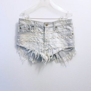 LF Carmar Distressed Frayed Hem Shorts
